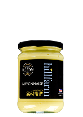 hillfarm mayonnaise made with cold press rapeseed oil