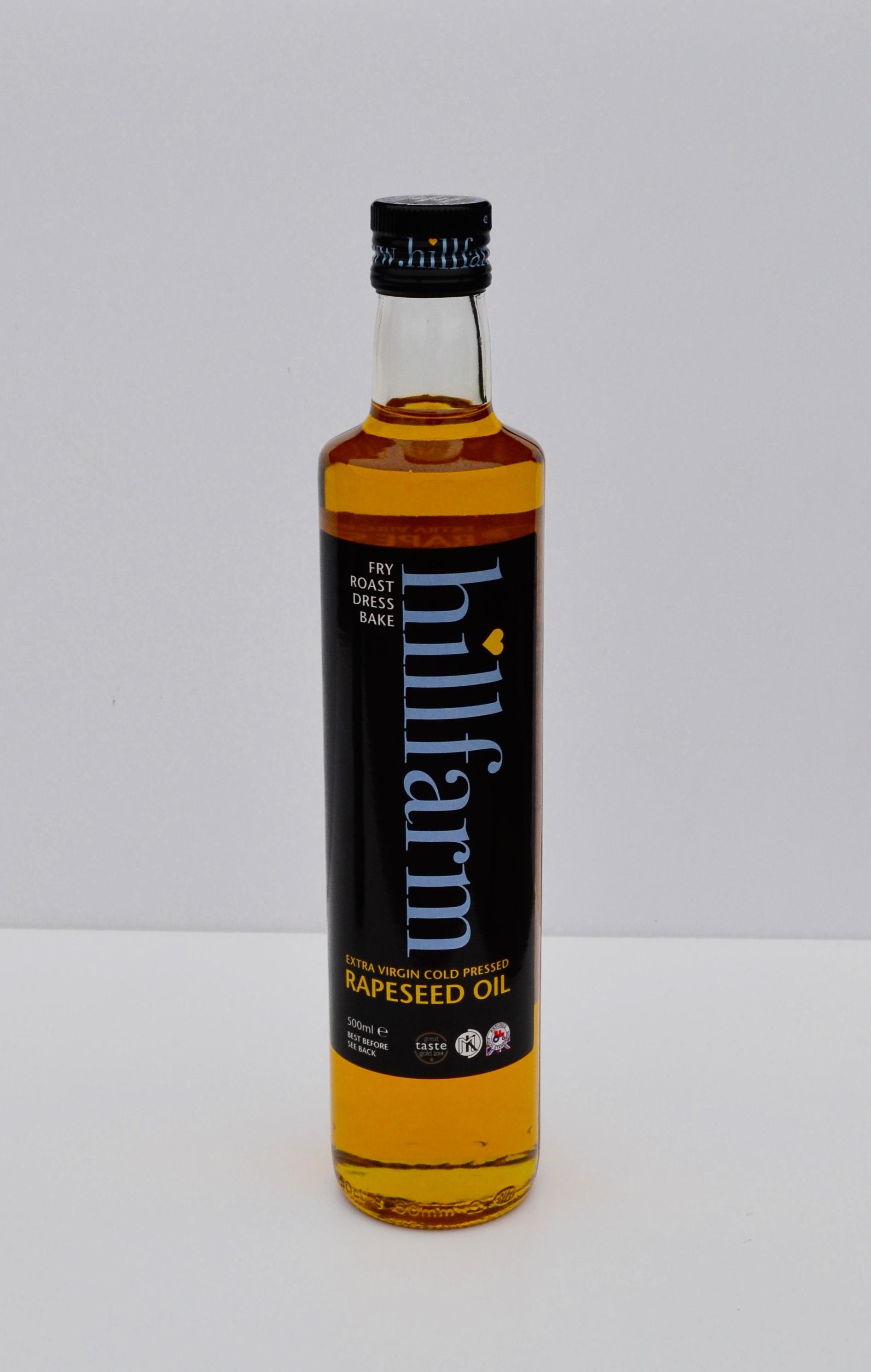 hillfarm clear glass bottle