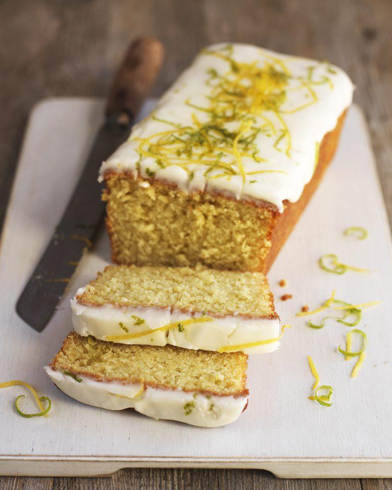 Lemon & Lime Loaf Cake recipe using hillfarm cold pressed rapeseed oil