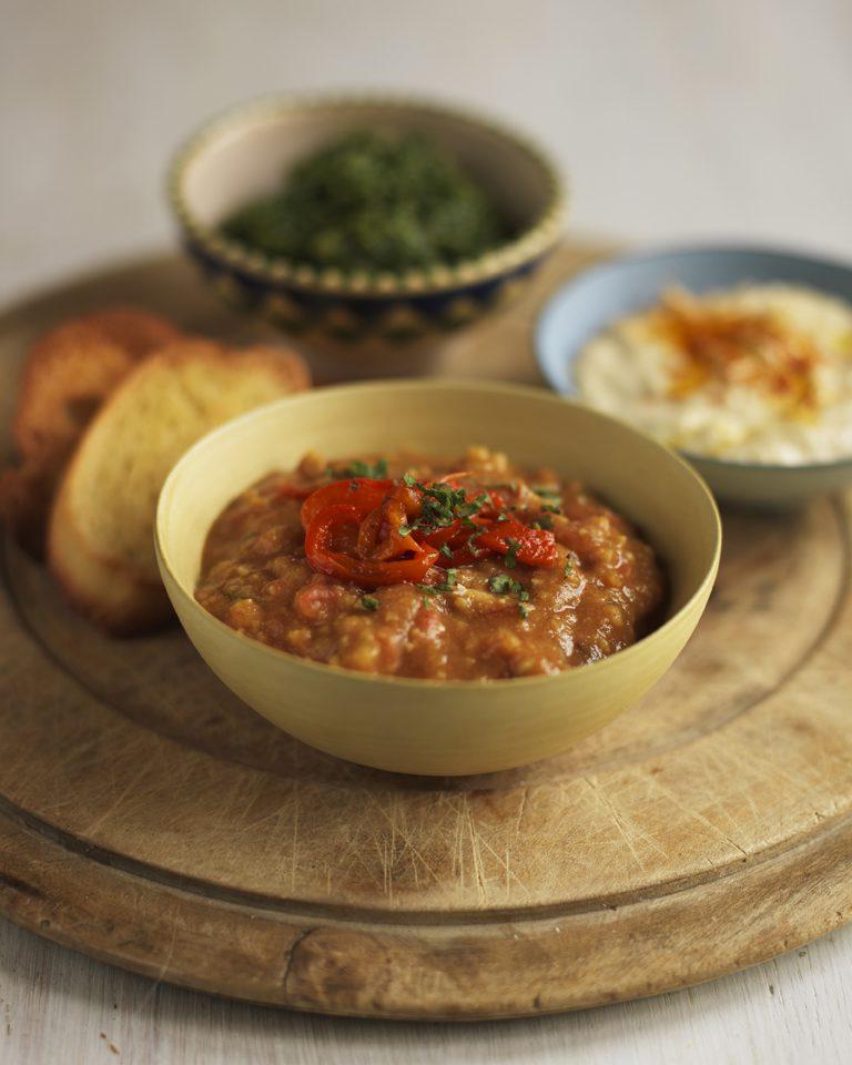 Red lentil dip