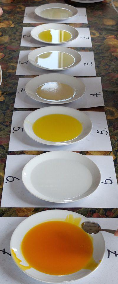Oil taste test